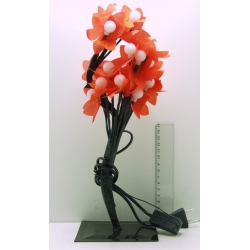 Гирлянда - цветок разноцв. на подстав. 28 ламп (шарики)