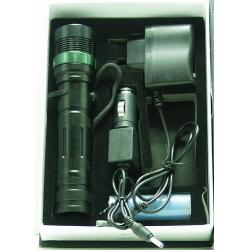 Фонарь светодиодный (1 мощ. акк.+ЗУ) H-100 8000W zoom