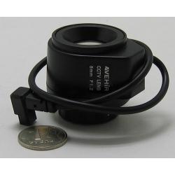 """Объектив FFA-0812DC 1/3"""" 8mm F1.2 автодиафр. 37gr"""