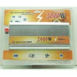 Преобразователь напряжения 12V-220V 2000W деш.