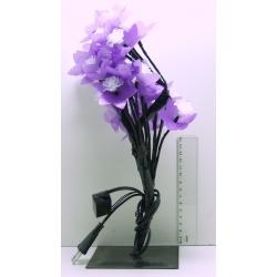 Гирлянда - цветок разноцв. на подстав. 28 ламп (цветок розы)