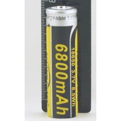 Аккумулятор для фонарика №18650 6800mA
