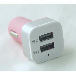 Бл. пит. для MP3 (2 USB,без шн.) 5V 2,1/1A прикур. B-11 квадр..