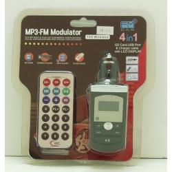 MP3 модулятор авто FM-11A (с пультом) с экр.