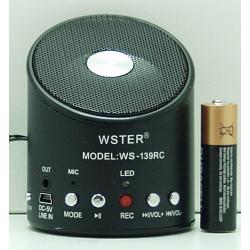 Колонки MP3 с FM-прием., USB, SD WS-139 круг. с записью
