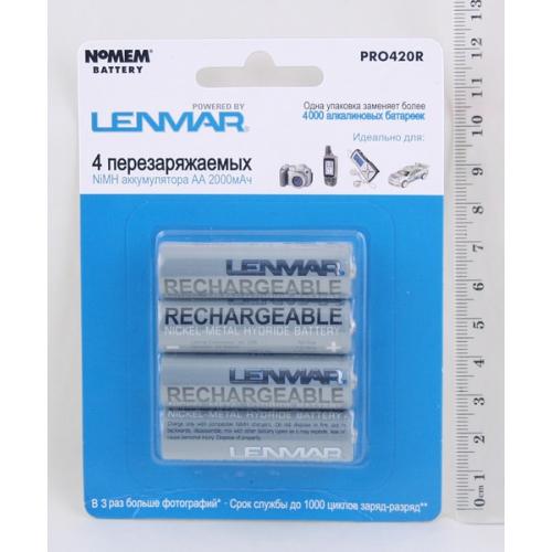 Аккумулятор Lenmar PRO-420R AA 1,2V 2000мАч (по 4 шт)