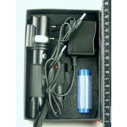 Фонарь светодиодный+лазер (1 мощ., акк.+ЗУ) 5000W H-110+1 zoom