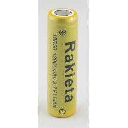 Аккумулятор для фонарика №18650 12000mA (упак.50шт) дорог. РАКЕТА промыш.