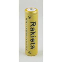 Аккумулятор для фонарика №18650 12000mA (упак.50шт) дорог. РАКЕТА бытов.