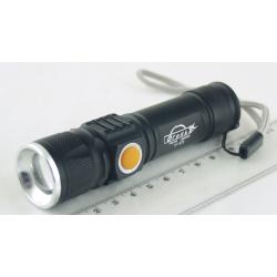Фонарь светодиодный (1 мощ. акк.) 100W H-473-T6 USB zoom