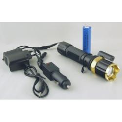 Фонарь светодиодный+лазер (1 мощ., акк.+ЗУ) 5000W H-112+лазер zoom