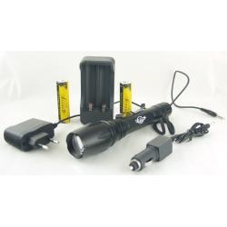 Фонарь светодиодный (1 мощ., 2акк.+ЗУ) 5000W H-118-T6