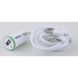 Зарядное устройство для SAMSUNG авто (прикур.+microUSB) 2,1A BELKIN