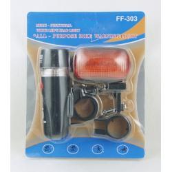 Фонарь для велосипеда FF-303 (5 диод. перед.+ задн.)