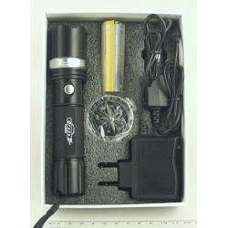 Фонарь светодиодный (1 мощ., акк.+ЗУ) 5000W H-505H zoom