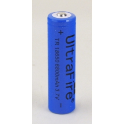 Аккумулятор для фонарика №18650 6800mA синие