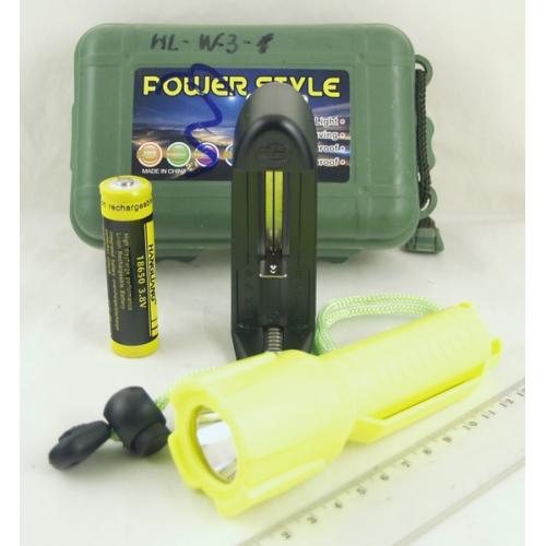 Фонарь светодиодный (1 мощ. аккум.) HLW-3 подводный