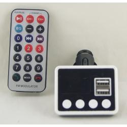 MP3 модулятор авто KBZ-862 SD (с пультом, экр.) 2USB Bluetooth