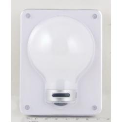 Фонарь светодиодный (1 больш. лампа, 3AAА) №311 выключатель