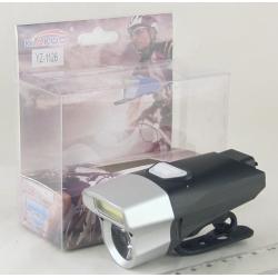 Фонарь для велосипеда (1 больш.+1 линза аккум.) 3 реж. YZ-1126