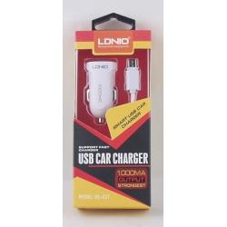 Зарядное устройство для SAMSUNG авто 5V 1A LDNIO C-17-V8 + USB