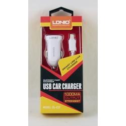 Зарядное устройство для IPHONE 5 авто 5V 1A LDNIO C-17-IP5 + USB