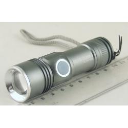 Фонарь светодиодный (1 мощ. акк.) 100W HL-912 USB zoom