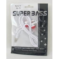 Наушники NGY N-5 вакуум. в пакете