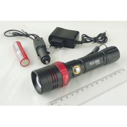 Фонарь светодиодный (1 мощ., акк.+ЗУ) 5000W HL-916 крут. zoom