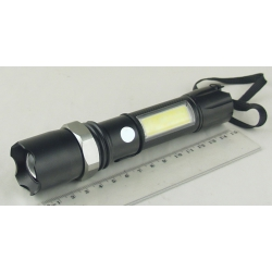 Фонарь светодиодный (1 мощ.+ 1 больш., акк.+ЗУ) H-546-T6 zoom