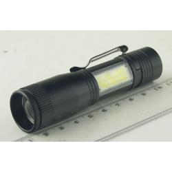 Фонарь светодиодный (1 мощ.+ 1 больш., акк.+ЗУ) MX-542 zoom