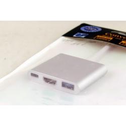 Переходник TYPE-C-HDMI/USB 3в1