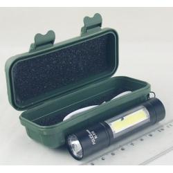 Фонарь светодиодный (1 мощ.+ 1 больш., акк.) №510 USB
