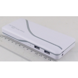 PowerBank 2USB AQ-13 12000mAh фонарик