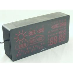 Часы-буд. электронные VST-882-1 (крас. циф.) Wi Fi, с погодой
