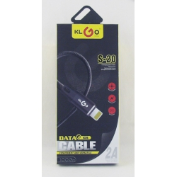 Шнур для IPHONE5 1м S-20 KLGO