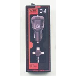 Зарядное устройство для IPHONE5, SAMSUNG, TYPE-C ET-9913 1м 2.4/2.4A в короб.