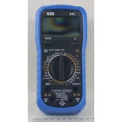 Цифровой Мультиметр №68L 20A (в калоше)