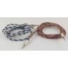 Шнур AUX (Джек 3,5 - Джек 3,5) 1,5м метал. (трос) M-19