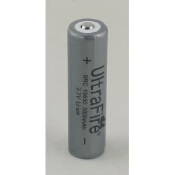 Аккумулятор для фонарика №18650 3800mA с защитой (контроль напряжения) UltrfFire