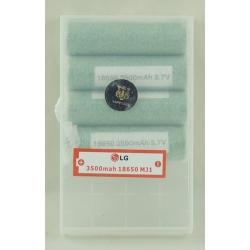 Аккумулятор для фонарика №18650 3000mA LG-MJ1 дорог. (по 4шт)