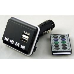 MP3 модулятор авто №860 (A-11) 2 USB с пультом, экр.