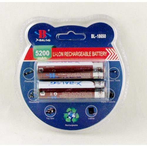 Аккумулятор для фонарика №18650 8800mA (2шт) блист. X-BALOG