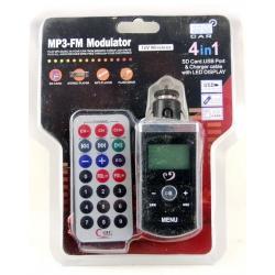 MP3 модулятор авто M77 MOTO (с пультом) с экр.