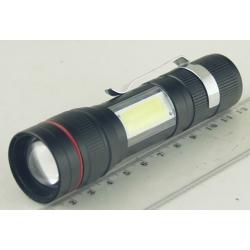 Фонарь светодиодный (1 мощ., акк.+ЗУ, шнур microUSB) BL-520-T6 zoom