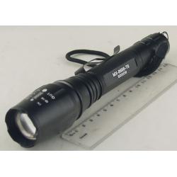 Фонарь светодиодный (1 мощ., 2 акк.+ЗУ) 8000W №8668-T6 (C-13) zoom