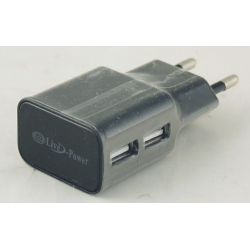 Блок питания для MP3 (2 USB разъем, без шн.) 5V 2+1A сетев. U-90-2+ дорог.