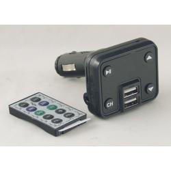 MP3 модулятор авто №659 (A-09) 2 USB с пультом, экр.