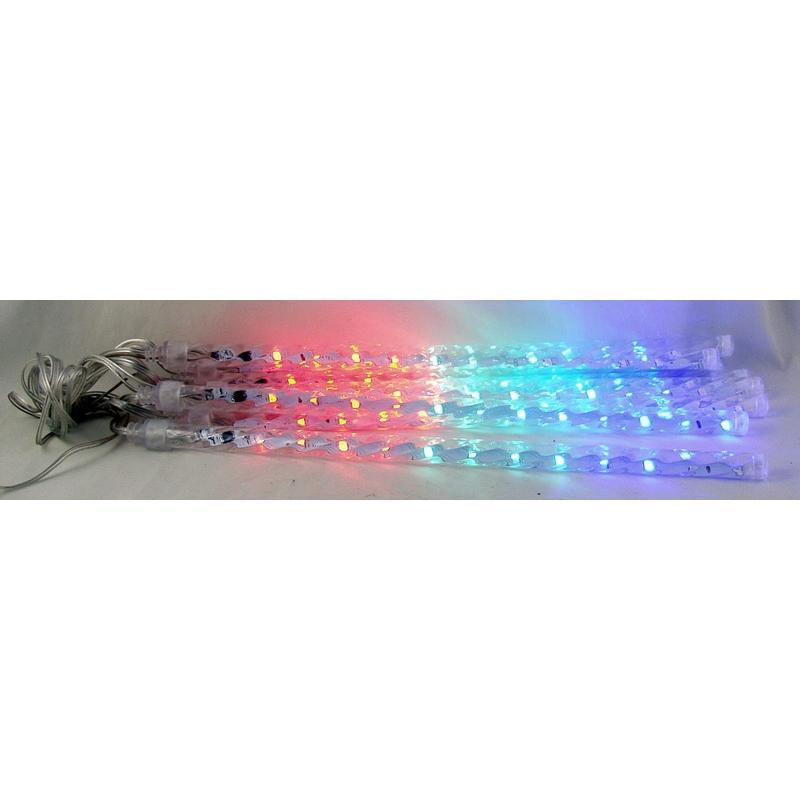 Гирлянда (сосульки) штора (8шт.) 30см 12 ламп разноцветн.