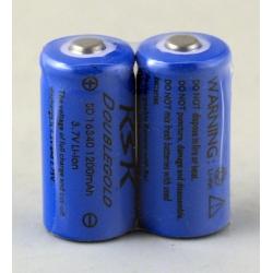 Аккумулятор для фонарика №16340 3,7V 1500mA KSK